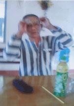 Tù nhân chính trị Nguyễn Hữu Cầu, nay hai mắt đã lòa. Photo courtesy Blog 1nguoiviet