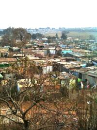 Một xóm nghèo ở ngoại ô Johannesburg của Nam Phi. RFA