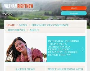Trang web Vietnamrightnow.com