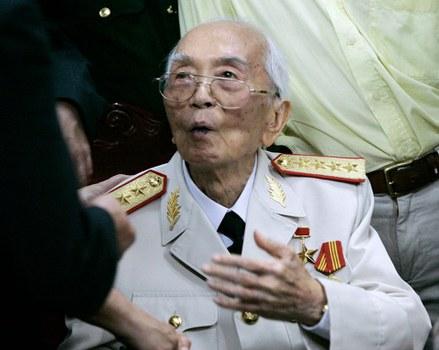 Hình minh họa. Cố Đại tướng Vỗ Nguyên Giáp tại một cuộc họp ở Hà Nội ngày 10/7/2008