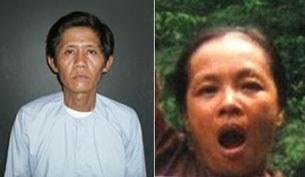 Cựu tù nhân Võ Văn Bửu (hình bên trái) và vợ là tù nhân Mai Thị Dung (hình bên phải)