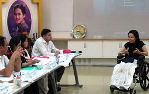 Một cảnh sinh hoạt tại Trung tâm Phát triển Châu Á- Thái Bình Dương cho giới Khuyết tật, APCD