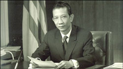 Đại sứ VNCH Bùi Diễm tại Washington-1970.  Source: vietnamvanhien.net