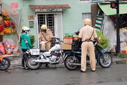 Nhân viên cưỡng hành luật pháp- RFA photo