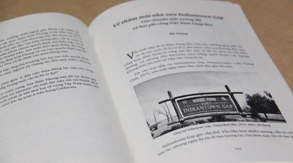 Một trang trong tuyển tập Hành Trình Cộng Đồng Việt Trên Đất Mỹ. Photo courtesy of Người Việt.