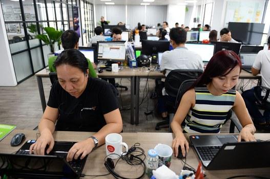 Một công ty IT ở Thành phố Hồ Chí Minh, ảnh minh họa chụp trước đây.