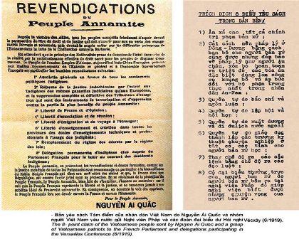 """Bản """"Yêu sách của dân tộc An Nam"""" năm 1919"""