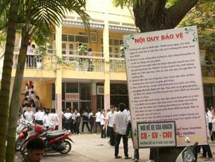 Một trường Trung Học ở Hà Nội. RFA