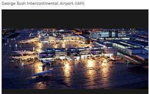 Phi trường quốc tế George Bush ở Houston là một trong 3 phi trường lớn của HAS. Courtesy HAS website