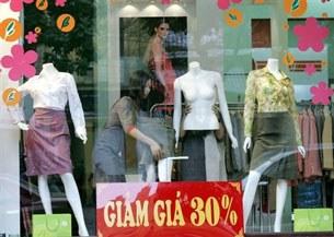Một cửa hàng áo quần thời trang ở Hà Nội