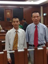 Ô. Vũ Quang Thuận tại phiên tòa ở Kuala Lumpur hôm 1/10/2010. Hình do thính giả RFA gửi.