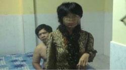 Hình chụp LS Cù Huy Hà Vũ lúc bị bắt tại khách sạn do Cơ quan An ninh Điều tra cung cấp cho báo chí.