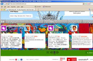 """Hình ảnh trang bìa của mạng """"berlintwitterwall.com"""""""
