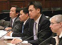 Các tổ chức Boat People SOS, Đảng Việt Tân điểu trần tại Hạ Viện Mỹ về tình trạng nhân quyền ở Việt Nam trong tháng 5. courtesy photo