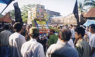 Ngày Lễ Đản Sanh Đức Huỳnh Giáo Chủ tổ chức tại An Giang bị công an ngăn chặn trong một buổi hành lễ trước đây.