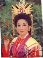 Nữ nghệ sĩ Thanh Thanh Hoa. Hình của Soạn giả Nguyễn Phương.