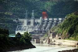 Một đập thủy điện trên sông Mêkông địa phận Trung Quốc. RFA PHOTO.