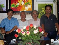 Các nhà dân chủ trong nước: Luật sư Nguyễn Văn Đại, Bác sĩ Nguyễn Đan Quế, Giáo sư Trần Khuê, và Phương Nam. RFA file photo.
