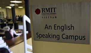 Trường có vốn đầu tư nước ngoài , đại học danh tiếng RMIT của Úc. AFP photo