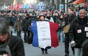 ông nhân mọi ban ngành xuống đường tại Paris