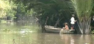 Những nhánh nhỏ của sông Mekong cũng nuôi sống biết bao gia đình vùng ĐBSCL. RFA