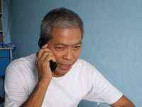 Hình ảnh người Tù Trương Văn Sương đang trả lời phỏng vấn của BTV Thanh Quang. Hình do gia đình cung cấp.