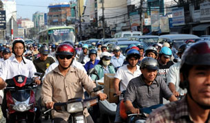 Đường phố giờ cao điểm. AFP photo