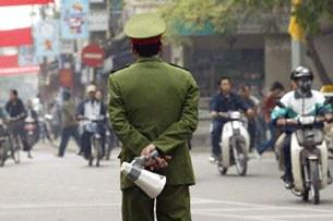 Người công an trên đường phố. (ảnh minh họa)