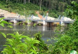 Đập thủy điện Nam Theun 2 trên dòng Mekong thuộc địa phận Lào. RFA photo.