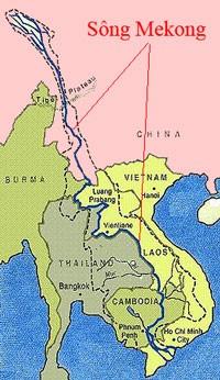 Bản đồ sông Mekong. Source Wikipedia