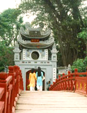 Đi lễ đầu năm-Đền Ngọc Sơn, Hà Nội. Dolinh RFA