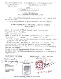 Lệnh tha anh Hoành ký ngày 13/05/2008. Hình của MS. Nguyễn Hồng Quang