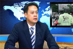 Ông Hoàng Tứ Duy trong lần trả lời phỏng vấn tại RFA hôm 09/09/2010. RFA Photo.