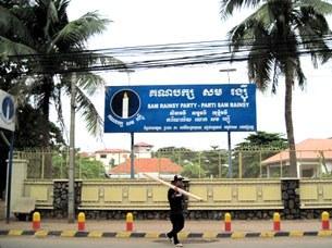 Trụ sở Văn phòng Đảng đối lập Sam Rainsy tại Thủ đô Phnom Penh