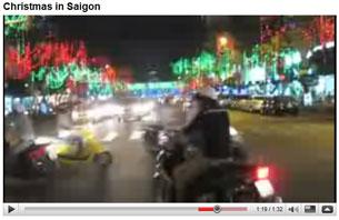 Giáng sinh ở Sài Gòn. Hình chụp từ Youtube/GongNone