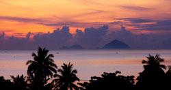 Hoàng hôn trên biển Nha Trang. RFA photo