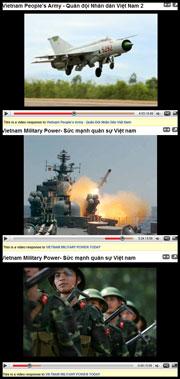 Sức mạnh quân sự Việt Nam. Screen capture