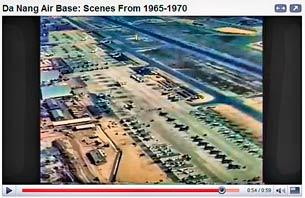 Sân bay Đà Nẵng những năm trước 1970. Screen capture