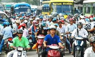 Số lượng người xử dụng xe máy ngày càng tăng
