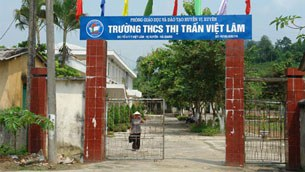 Trường THCS thị trấn Việt Lâm, nơi ông Sầm Đức Xương gây tội ác.