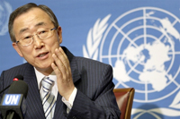 Tổng thư ký Liên Hiệp Quốc Ban Ki-moon. AFP PHOTO