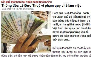 Báo chí Việt Nam cũng đã từng lên tiếng cảnh báo về những sai phạm trong vụ in tiền polymer.