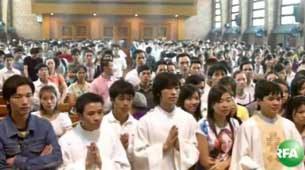 Người lao động Công giáo Việt ở Thái dự lễ nhà thờ.