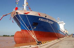 Tàu chở container Vinashin Orient. Screen captured from vinashin.com.vn