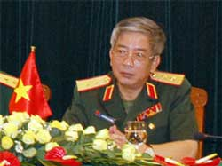 Thứ trưởng Quốc phòng Việt Nam, Trung tướng Nguyễn Chí Vịnh. Photo courtesy of dantri.vn
