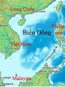 Bản đồ khu vực Biên Đông