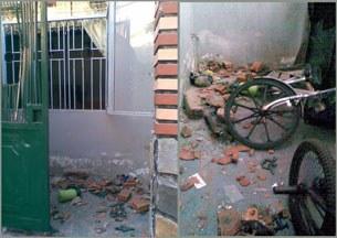 """Một số """"nhân dân tự phát""""  đã đập phá nhà của mục sư Nguyễn Công Chính."""