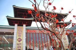Khu Phước Lộc Thọ, ở Cali ngày Tết. Source Giác Ngộ Online