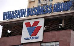 Logo của tập đoàn Vinashin tại trụ sở chính ở Hà Nội hôm 19/07/2010. AFP photo