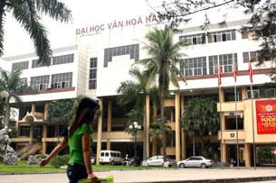 Đại học Văn Hóa ở Hà nội. RFA photo
